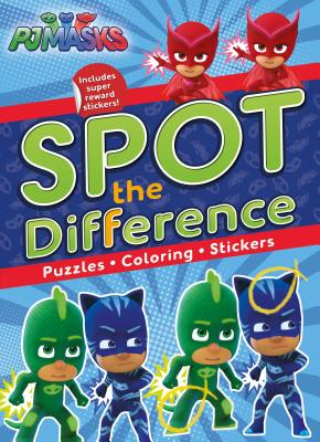 Pj Masks Spot The Difference Puzzles Coloring Stickers