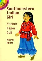 Southwestern Indian Girl Sticker Paper Doll