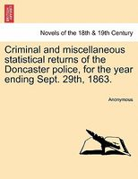 Criminal and miscellaneous statistical returns of the Doncaster police, for the year ending Sept. 29th, 1863.